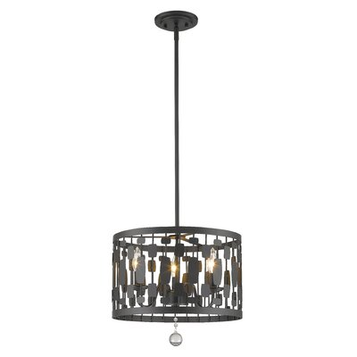 Almet 3-Light Drum Pendant Finish: Bronze