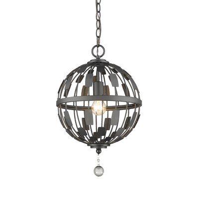 Almet 1-Light Globe Pendant Finish: Bronze