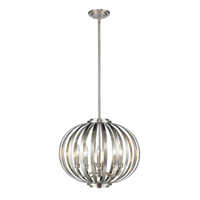 Fava 5-Light Globe Pendant Finish: Brushed Nickel