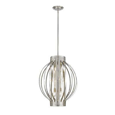 Moundou 6-Light Foyer Pendant Finish: Brushed Nickel