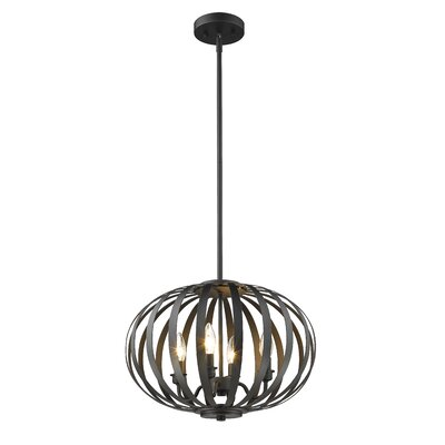 Fava 4-Light Globe Pendant Finish: Bronze
