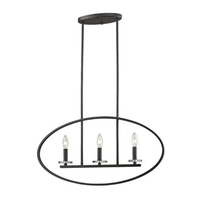 Favela 3-Light Kitchen Island Pendant Finish: Bronze