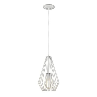 Risher 1-Light Mini Pendant Finish: White, Size: 15.75 H x 9.25 W x 9.25 D