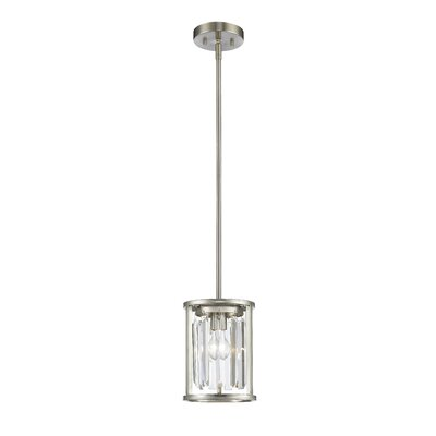 Chelvey 1-Light Mini Pendant Finish: Brushed Nickel