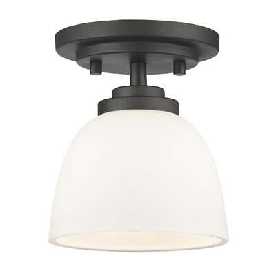 Ashton 1-Light Semi Flush Mount Finish: Bronze