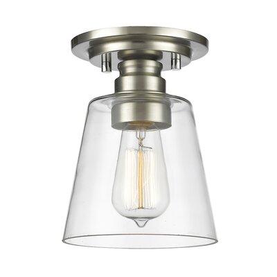 Annora 1-Light Semi Flush Mount Finish: Brushed Nickel