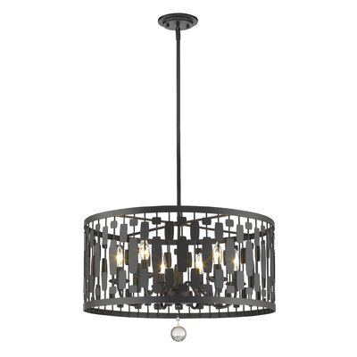 Fearn 6-Light Drum Pendant Finish: Bronze