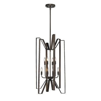 Fawcett 8-Light Foyer Pendant Finish: Bronze