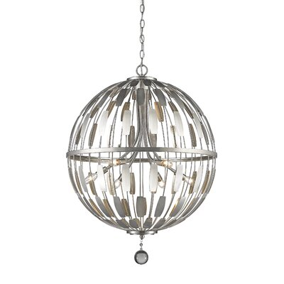 Fearn 6-Light Globe Pendant Finish: Brushed Nickel