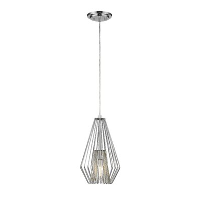 Risher 1-Light Mini Pendant Finish: Chrome, Size: 15.75 H x 9.25 W x 9.25 D