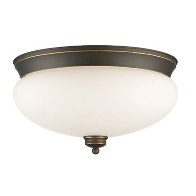Casselman 3-Light Bowl Flush Mount Finish: Olde Bronze