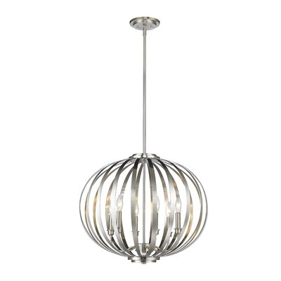 Fava 6-Light Globe Pendant Finish: Brushed Nickel