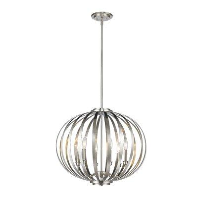 Moundou 6-Light Globe Pendant Finish: Brushed Nickel