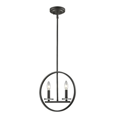 Favela 2-Light Kitchen Island Pendant Finish: Bronze