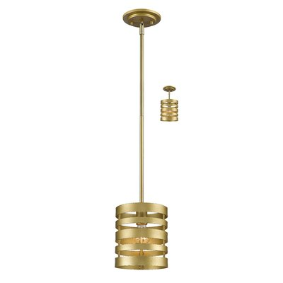 Fedele 1-Light Mini Pendant Finish: Satin Gold