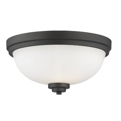 Kepner 2-Light Metal Flush Mount Finish: Bronze