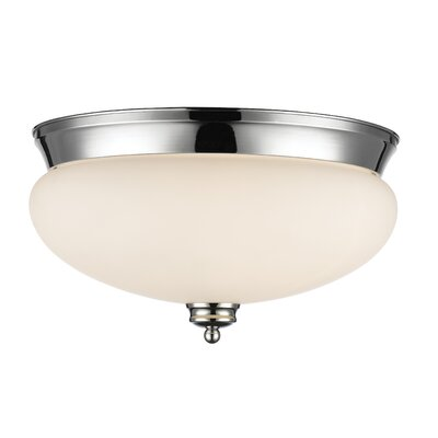 Casselman 3-Light Bowl Flush Mount Finish: Chrome