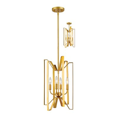 Fawcett 4-Light Foyer Pendant Finish: Polished Metallic Gold