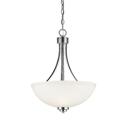Kepner 3-Light Inverted Pendant Finish: Chrome