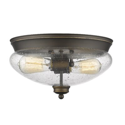Amon 2-Light Flush Mount Finish: Olde Bronze