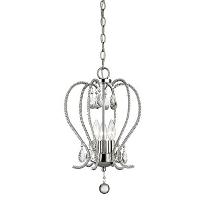 Serenade 3-Light Crystal Pendant Finish: Chrome