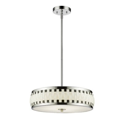 Castlewood 4 LED Integrated Bulb Drum Pendant