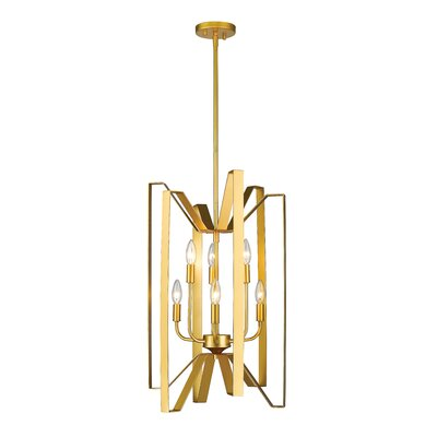 Marsala 6-Light Foyer Pendant Finish: Polished Metallic Gold