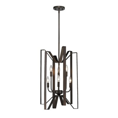 Fawcett 6-Light Foyer Pendant Finish: Bronze