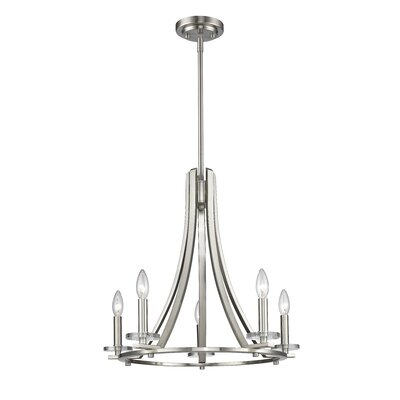 Verona 5-Light Candle-Style Chandelier Finish: Brushed Nickel