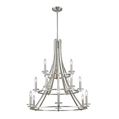 Verona 15-Light Semi Flush Mount Finish: Brushed Nickel