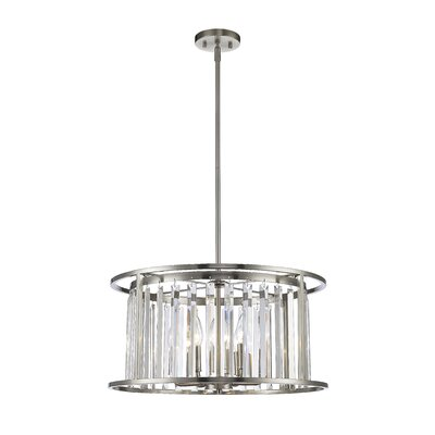 Chelvey 6-Light Drum Pendant Finish: Brushed Nickel