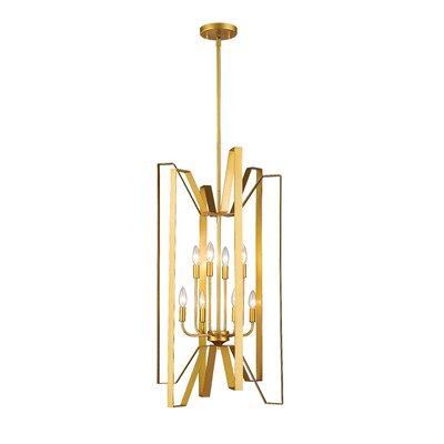Fawcett 8-Light Foyer Pendant Finish: Polished Metallic Gold