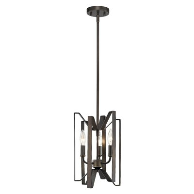 Marsala 3-Light Foyer Pendant Finish: Bronze, Size: 14 H x 9 W x 9 D