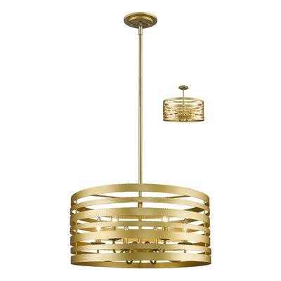 Fedele 6-Light Drum Pendant Finish: Satin Gold