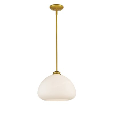 Casselman 1-Light Bowl Mini Pendant Finish: Satin Gold, Size: 10 H x 13 W x 13 D