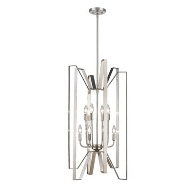 Fawcett 8-Light Foyer Pendant Finish: Brushed Nickel