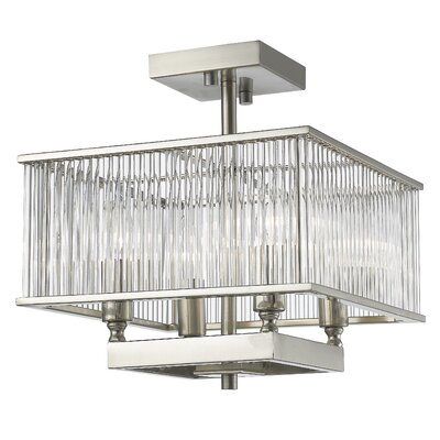 Zalo 4-Light Semi Flush Mount