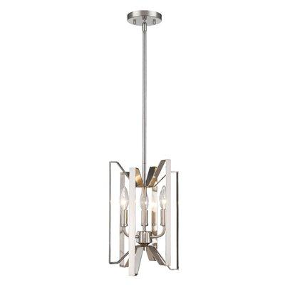 Fawcett 3-Light Foyer Pendant Finish: Brushed Nickel, Size: 14 H x 9 W x 9 D
