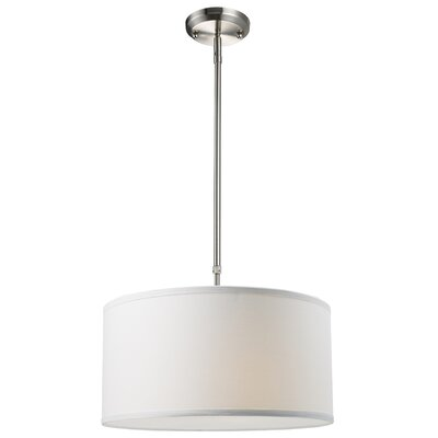 Albion 3-Light Drum Foyer Convertible Pendant Size: 8 H x 16 W, Finish: White