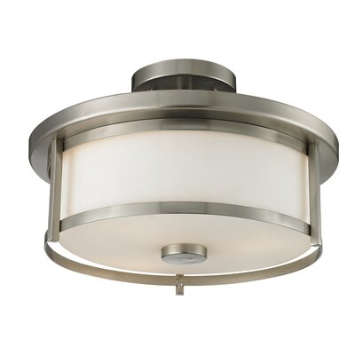 Crumley 2-Light Semi Flush Mount Color: Brushed Nickel