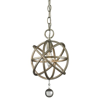 Leonora 1-Light Foyer Pendant Base Finish: Antique Silver