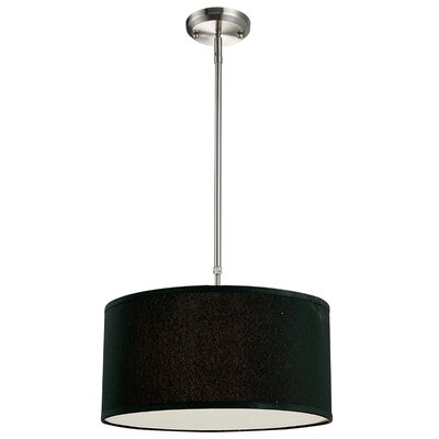 Boese 3-Light Drum Foyer Convertible Pendant Size: 9 H x 20 W, Finish: Black