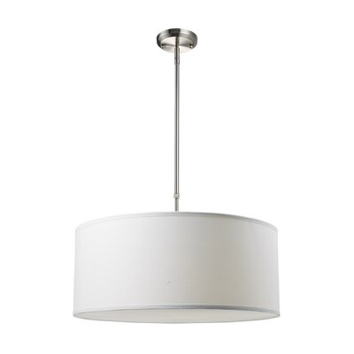 Albion 3-Light Drum Foyer Convertible Pendant Size: 10 H x 24 W, Finish: White