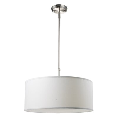 Albion 3-Light Drum Foyer Convertible Pendant Size: 9 H x 20 W, Finish: White