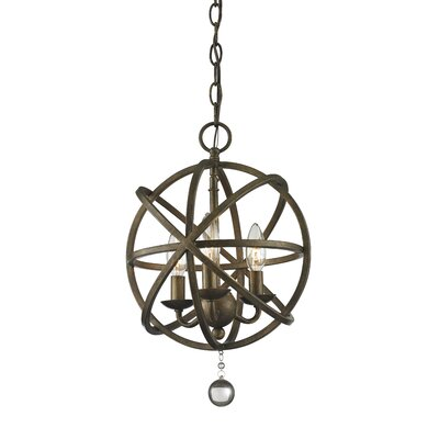 Leonora 3-Light Globe Pendant Base Finish: Golden Bronze