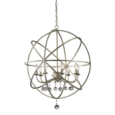 Leonora 8-Light Foyer Pendant Base Finish: Antique Silver
