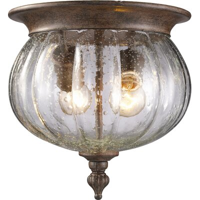 Kellam 2-Light Flush Mount Finish: Weathered Bronze