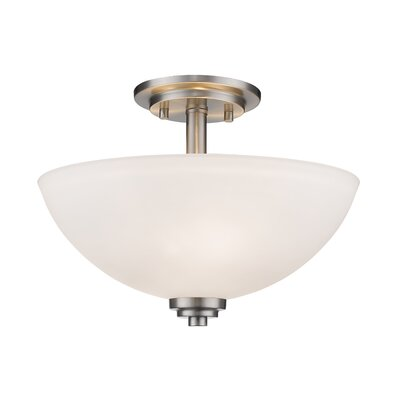 Ashton 3-Light Semi Flush Mount Finish: Brushed Nickle