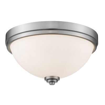 Kepner 2-Light Metal Flush Mount Finish: Brushed Nickle