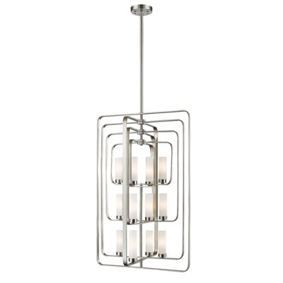 Aideen 12-Light Foyer Pendant Finish: Brushed Nickel